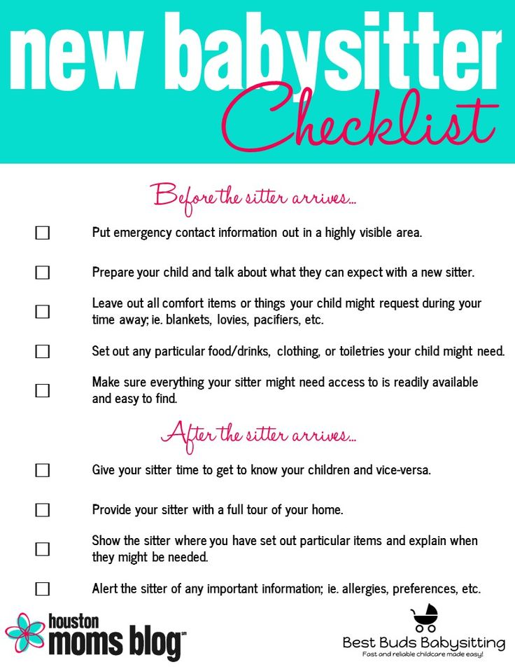 Five Things Your New Babysitter Wishes You'd Do | Houston Moms Blog