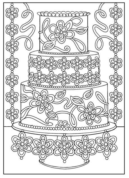 Zomer Kleurplaat Voor Volwassenen Moeilijke Kleurplaat Mooie Taart Kleurboek Kleurplaten