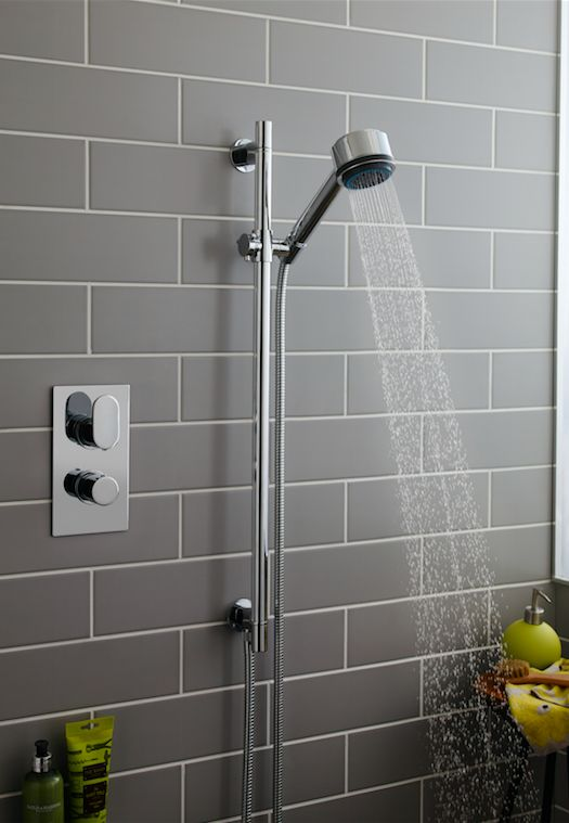 Exposed brick and a simple shower kit = traditional bathroom style nailed. Shop shower kits at MatalanDirect.com now