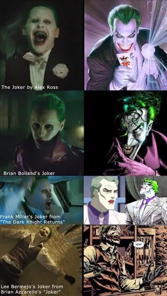 Joker Comparison. Jarred Letto to Comic Book Joker.