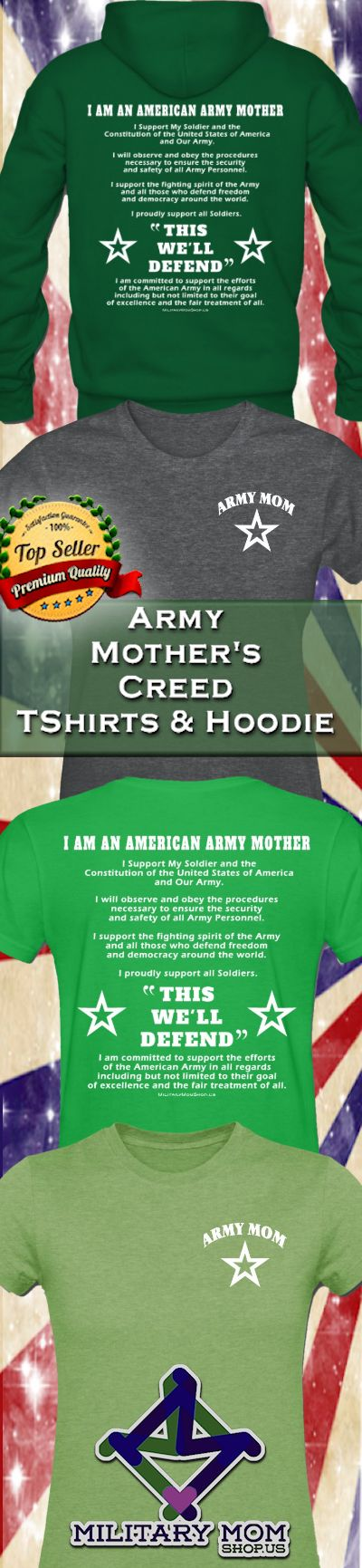 ARMY MOTHER'S CREED SHIRTS & HOODIES #ArmyMom #ArmyMomShirts #ArmyMomSweatshirts #ArmyMomHoodies by MilitaryMomShop.us