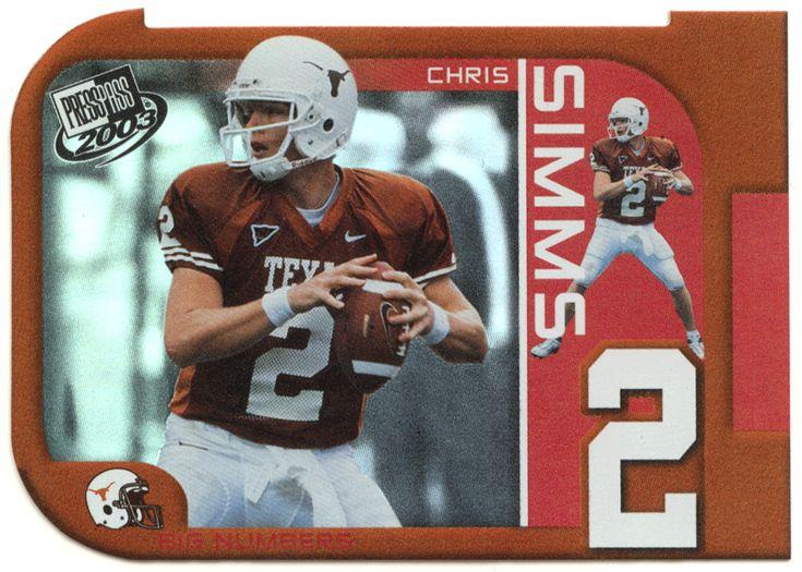 Chris Simms # BN 27 - 2003 Press Pass Football - Big Numbers