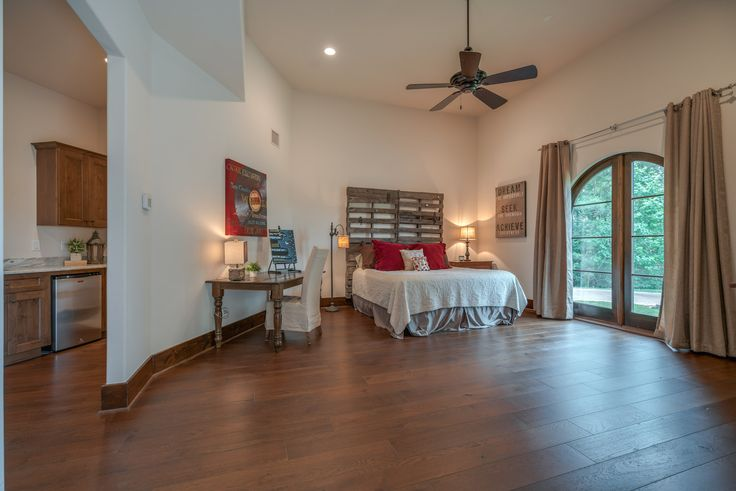 Hosting family & friends at Forest Pointe is a breeze with the separate guest casita that features a spacious bedroom, mini-kitchen, & it's own private entrance.  #SupremeAuctions #LuxuryAuction #Houston #Dallas #Texas #HoustonRealEstate #TexasRealEstate #DallasRealEstate #Auction #LuxuryLiving #LuxuryHome #Mansion #LuxuryRealEstate #LakeConroe #House #bedroom #LuxuryLifestyle #Montgomery #ForestPointe #pool #idea #inspiration