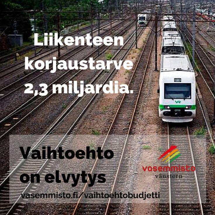 Liikenteen korjaustarve 2,3 miljardia. Vaihtoehto on elvytys #vasemmisto #infra