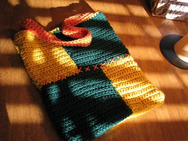 Patchwork bag: free pattern