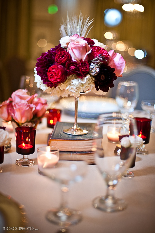 111 best centerpieces images on pinterest table centers flower elegant and timeless wedding decorations book accents junglespirit Image collections