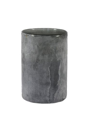 Tell Me More Large Grey Candle Holder: The Tell Me More Candle Holder with frosted glass is a really beautiful item, simple and elegant, it would look lovely with a plain or coloured candle. Perfect by itself or create a little group of them with different colours and sizes for a statement.