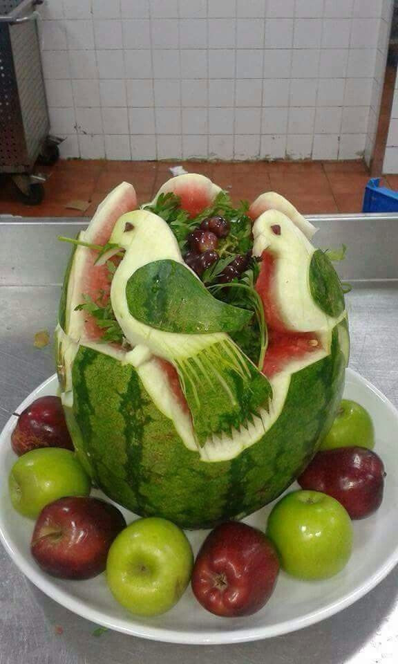 Best food art water melon images on pinterest
