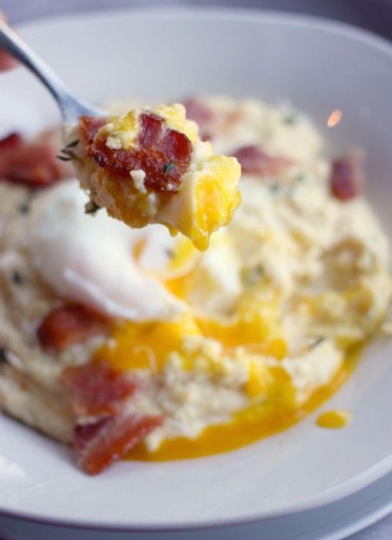 ... grits breakfast cheese grits polenta creamy polenta gouda breakfast