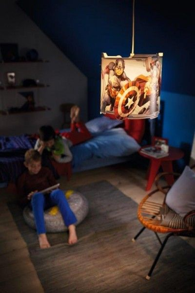 Lampadario sospensione philips the avengers lampade per for Lampade bambini