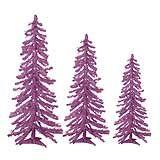 Alpine THREE TREE SET of Mini Purple Christmas Trees CLEARANCE - $49.99 at The Purple Store