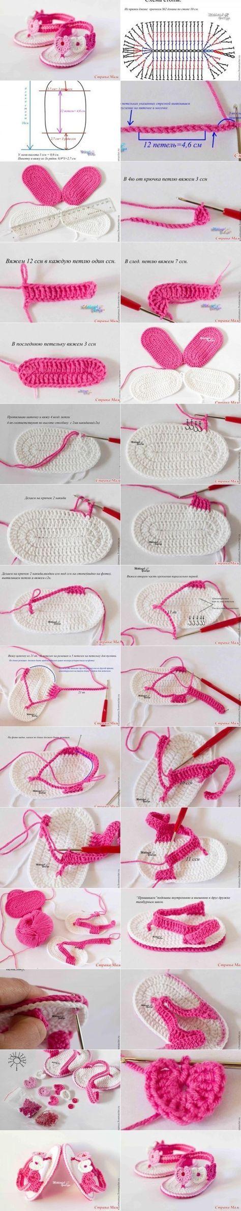 Repeat After me Crochet: DIY Sweet Crochet Baby Summer Bootie by Nina Maltese