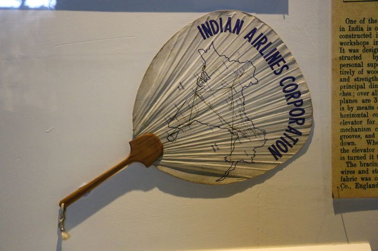 Here's a look at the Indian Airlines Corporation fan! It is a part of the aviation memorabilia of the museum consisting of multiple vintage items that takes one back to the early years of air transport in India!