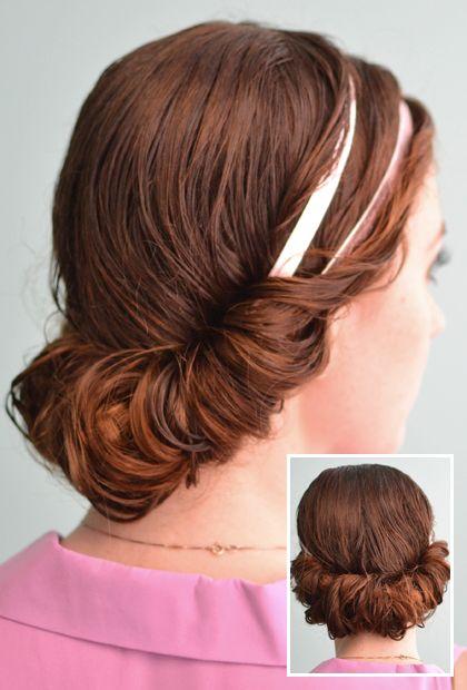 4 Prettiest Ways to Style Wet Hair - the headband tuck