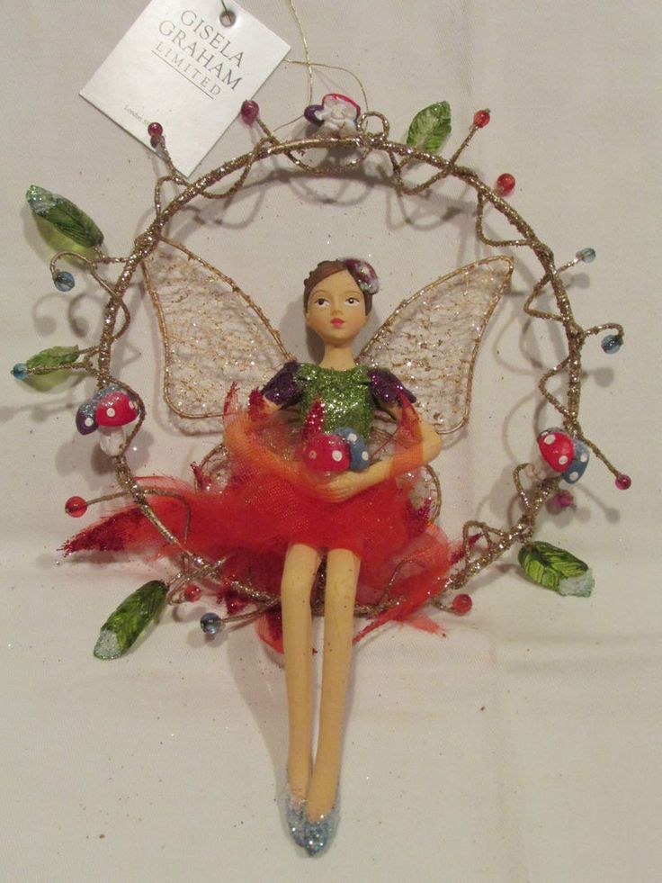 NEW GISELA GRAHAM ~ CHRISTMAS FAIRY TREE / ORNAMENT DECORATION ~ PURPLE SLEEVES in Home, Furniture & DIY, Celebrations & Occasions, Christmas Decorations & Trees | eBay
