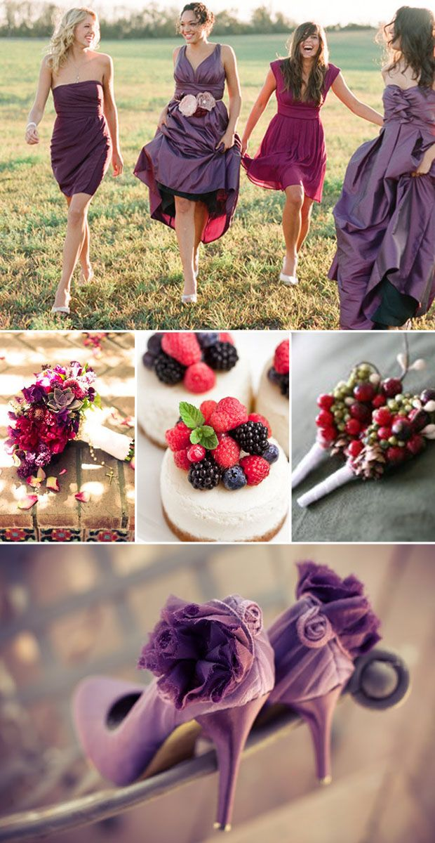 wedding colors: berry, plum, sangria | Colores para boda | #wedding #deco #boda