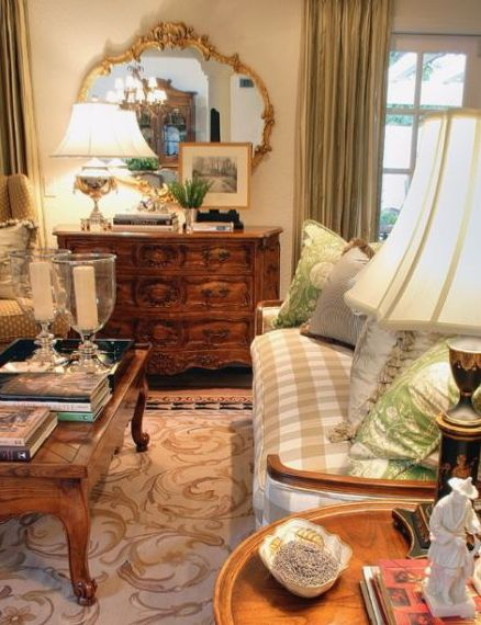 Beautiful room love the idea of putting an antique dresser in a living room........