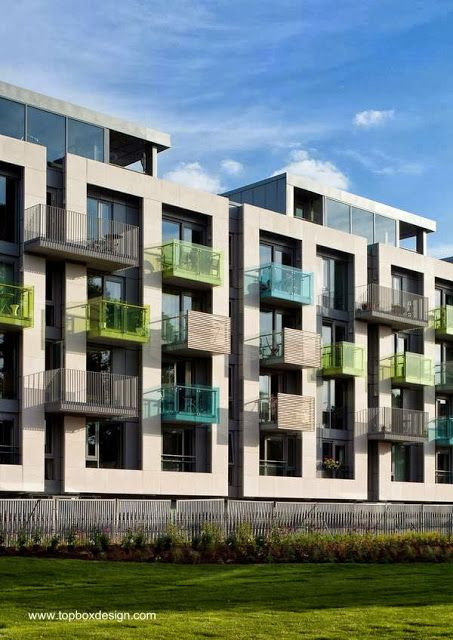 Residential buildings in London - Arundel Square diseño de Pollard Thomas Edwards architects