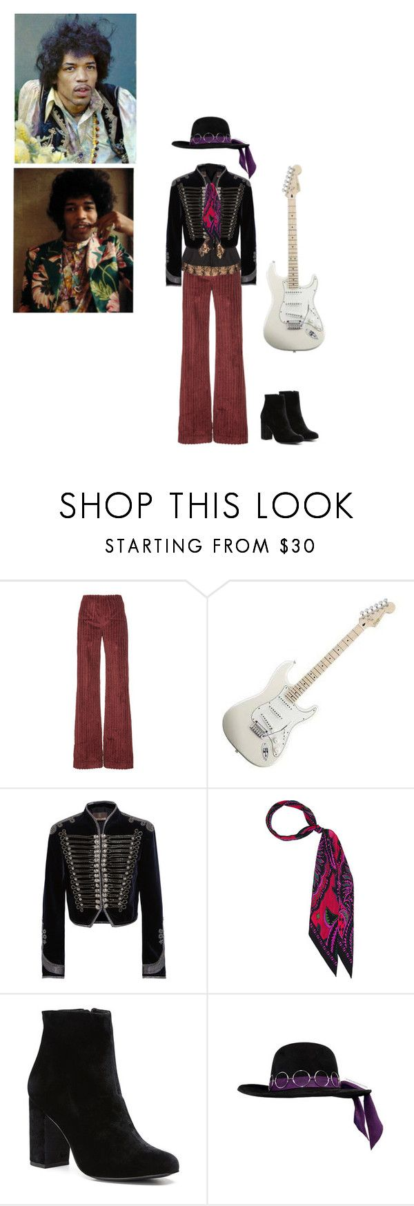 """Jimi Hendrix"" by queenstormrider ❤ liked on Polyvore featuring Isa Arfen, Roberto Cavalli, Witchery, vintage, 70s, JimiHendrix and rockerstyle"