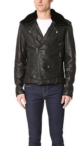 BLK DNM Blk Dnm Men'S Shearling Collar Leather Jacket 5. #blkdnm #cloth #