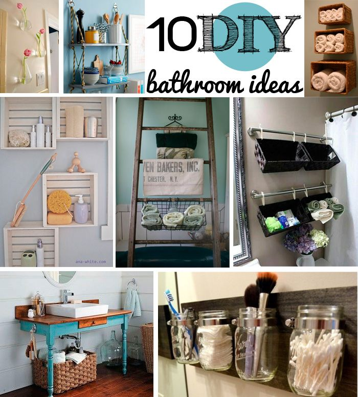 10 DIY bathroom decor ideas- so much fun!