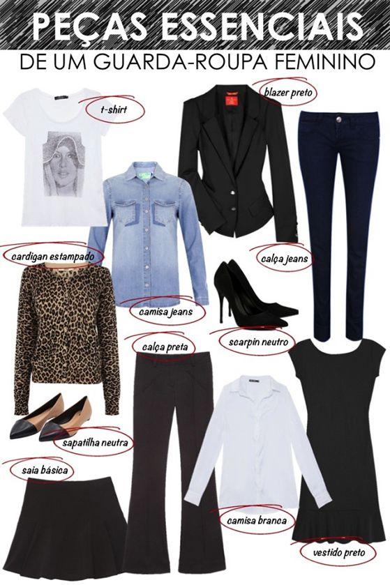 Image result for pecas essenciais guarda-roupa feminino