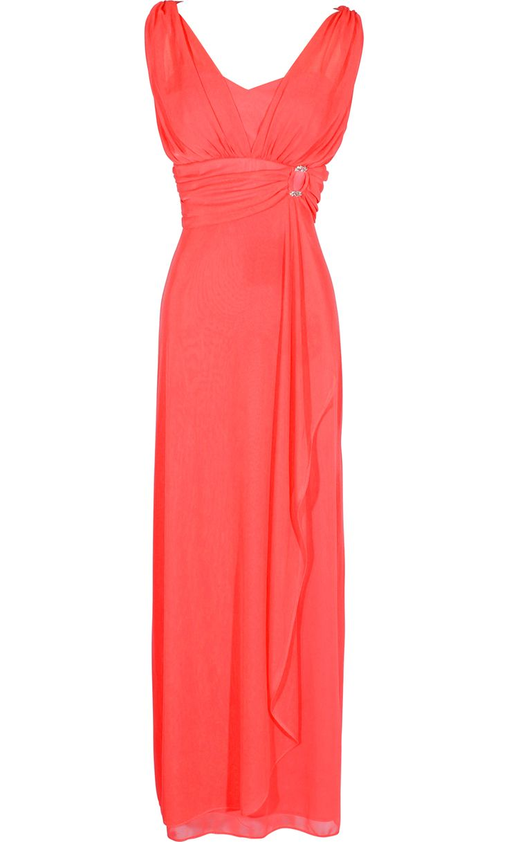 Sleeveless Faux Wrap Bridesmaid Long Prom Dress from PacificPlex