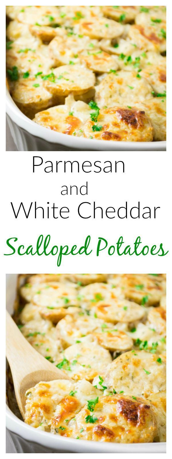 parmesan and white cheddar scalloped potatoes