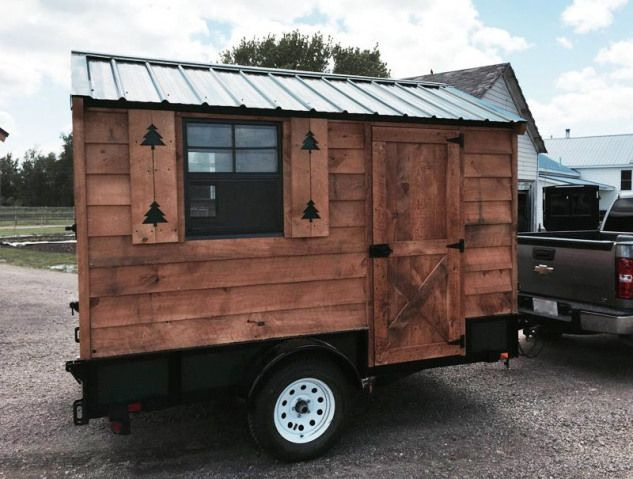 6x10 Foot Tiny House On Wheels Shedplans Tiny House Trailer