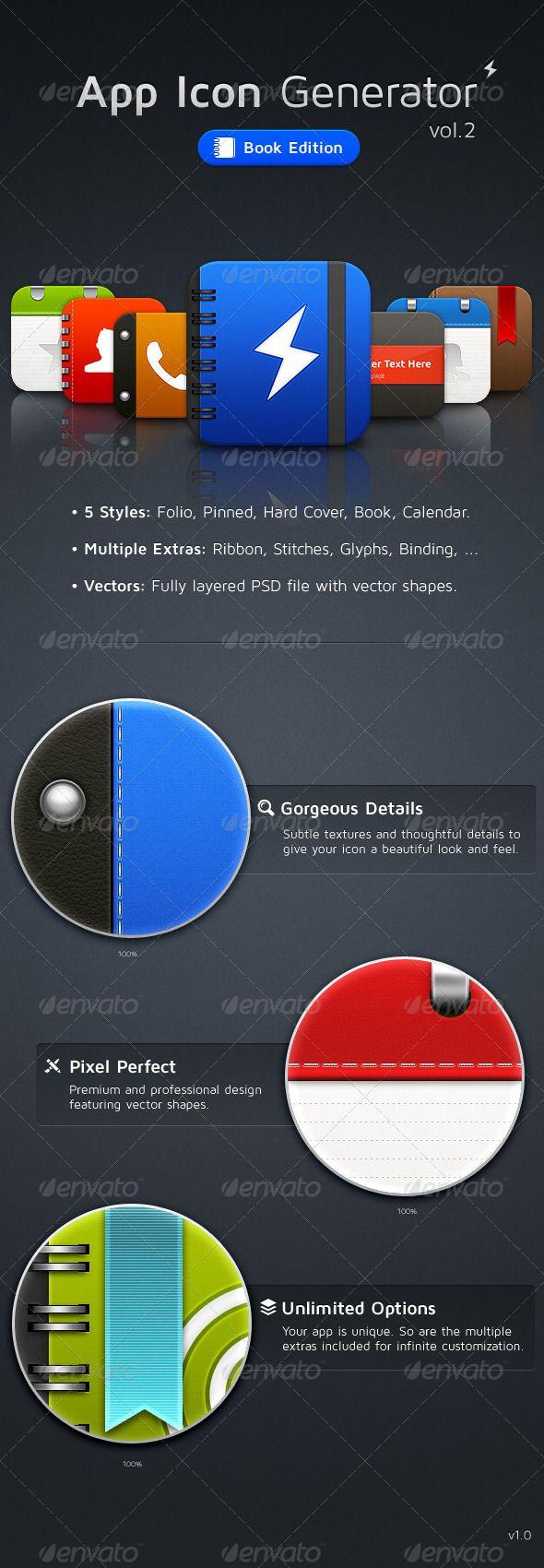 App Icon Generator Vol.2 - GraphicRiver Item for Sale