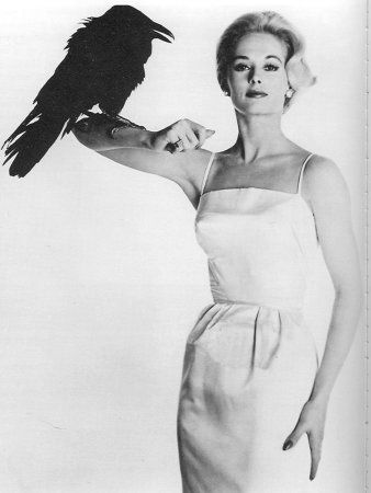 Tippi Hedren (The Birds from Alfred Hitchcock) Fun photo! :-) She was Melanie Griffith's mom by the way.
