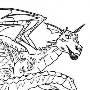 shrek dragon coloring pages - photo#5