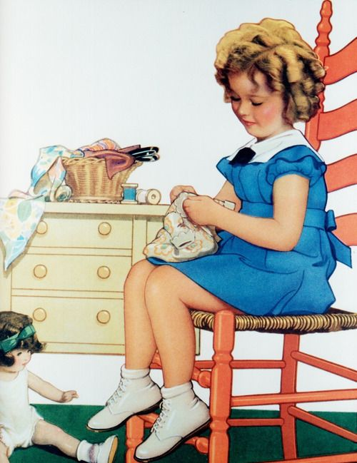 Illustration from Shirley Temple at Play, 1935.