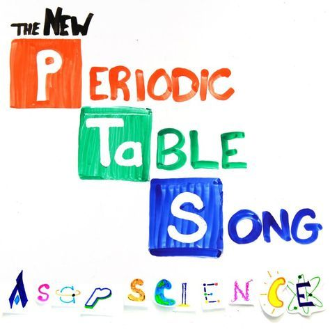 Lyrics for The New Periodic Table Song by AsapSCIENCE. There's Hydrogen and Helium, Then Lithium, Beryllium Boron, Carbon everywhere, Nitrogen all through the air  With Oxygen...