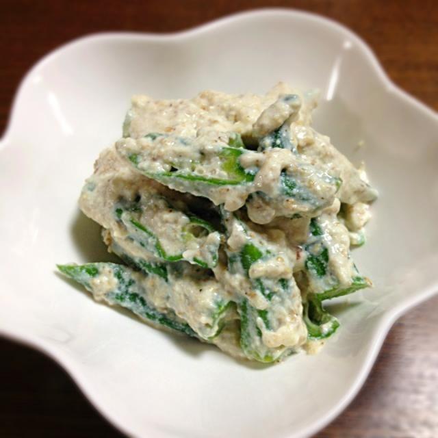 こちらこそ素敵なレシピありがとうございました♡ 私好みの料理でずーっと作りたかったので念願叶いました 夏にぴったりでおいしかったです✨✨ - 28件のもぐもぐ - michakoさんのOkra with tofu dressing/オクラの白和え by ぎゅう