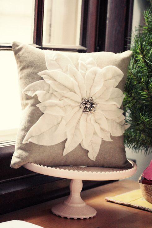 Poinsetta pillow