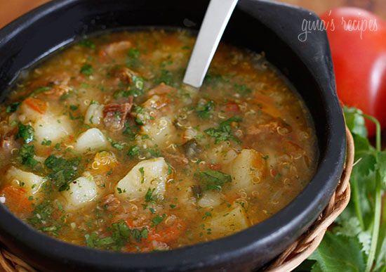Beef, Potato and Quinoa Soup: Soups, Fun Recipes, Quinoa Soup, Potatoes, Recipes Soup, Beef Soup, Food Soup, Soup Recipes