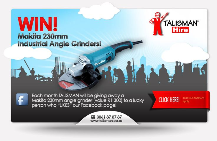 Competition mailshot for Talisman Tool & Plant Hire, South Africa.