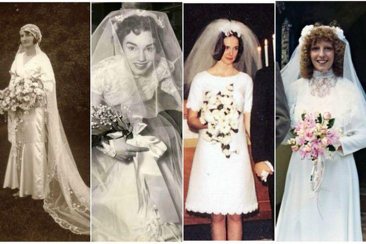 Wedding photos through the decades show how much bridal fashion has changed - Mirror Online