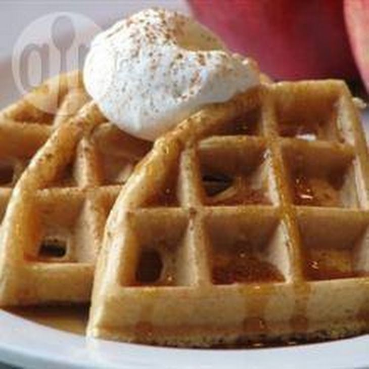 Easy Waffles Recipe Breakfast and Brunch with plain flour, baking powder, sugar, salt, eggs, butter, milk