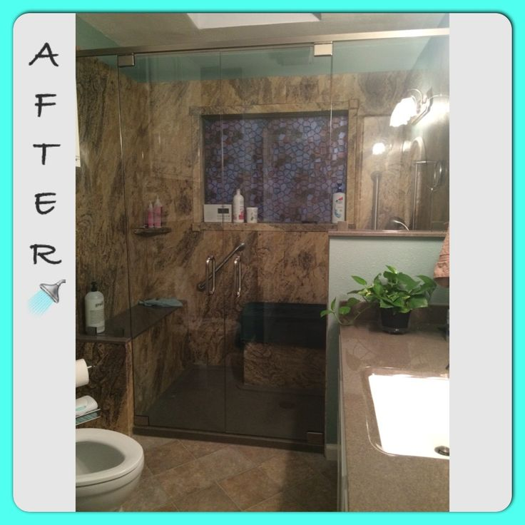 Rebath Adara Granite Wall System Full Bathroom Remodel