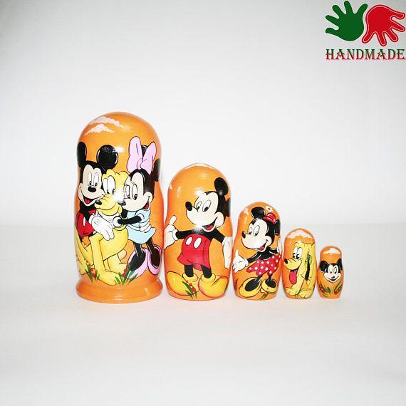 Nesting dolls Mickey Mouse matryoshka nesting doll for ...