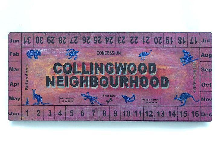 Collingwood Neighbourhood 2017, screenprint on steel metal.