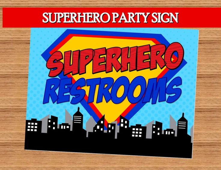 Superhero Party Comic Hero Party Superhero Birthday