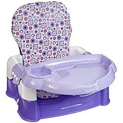 Safety 1st Deluxe Sit Snack and Go Convertible Booster with Full Pad, Lavendar