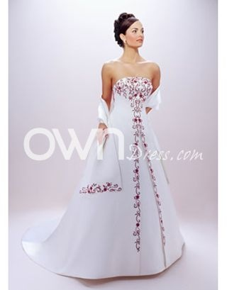 Salable Color Accented Wedding Dress With Stunning Embroide Dresses Owndress