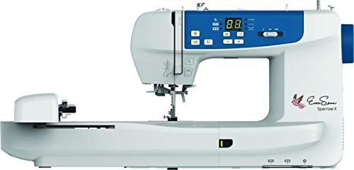 EverSewn Sparrow X Next-Generation Sewing and Embroidery Machine-Customize Designs and Monitor Projects from Your Smart Device, White
