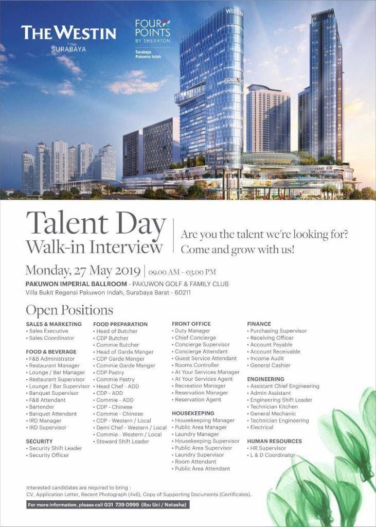 The Westin Surabaya Jobs News Dengan Gambar
