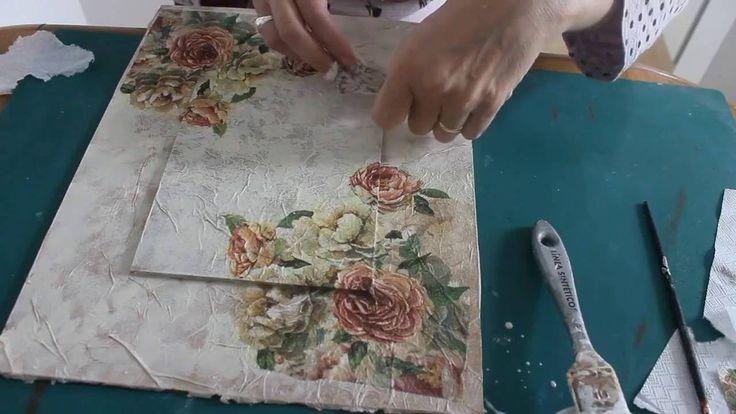 Cuadro con diferentes técnicas decorativas - Decorative Techniques on a ...