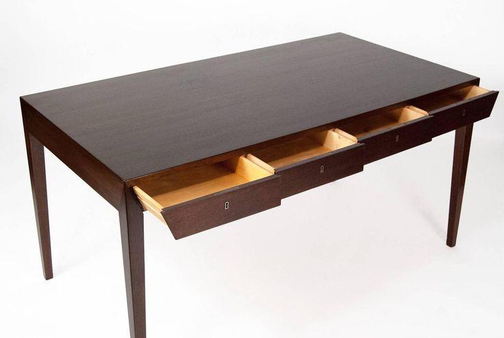 Severin Hansen Mahogany Danish Desk 6